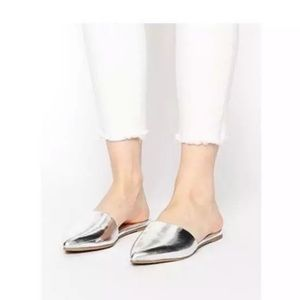 A New Day Silver Metallic June Bug Mules    10